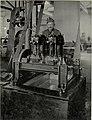 K.u.k. Kraftwagen Werkstätte in der Cellulosefabrik Villach. Motoreinlauf mit einem 40 HP Mercedes Motor für Hochspannungsanlage (BildID 15468389).jpg