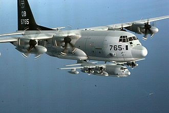 VMGR-352 - VMGR-352 fly two KC-130Js in a training exercise, February 2007.