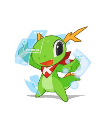 KWin - KDE mascot Konqi and window manager.