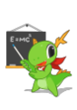 KDE mascot Konqi for presentation and education applications.png