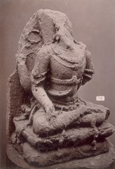 KITLV 87595 - Isidore van Kinsbergen - Hindu-Javanese sculpture coming from the Dijeng plateau - Before 1900.tif