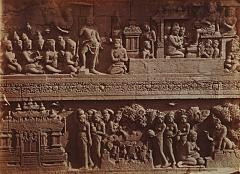 KITLV 90015 - Isidore van Kinsbergen - Reliefs on the Borobudur near Magelang - Around 1900.tif