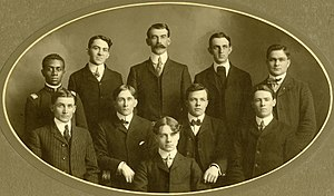 Education in Kansas - Mechanical engineering students at Kansas State in 1904