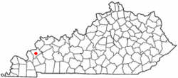 Location of Marion, Kentucky
