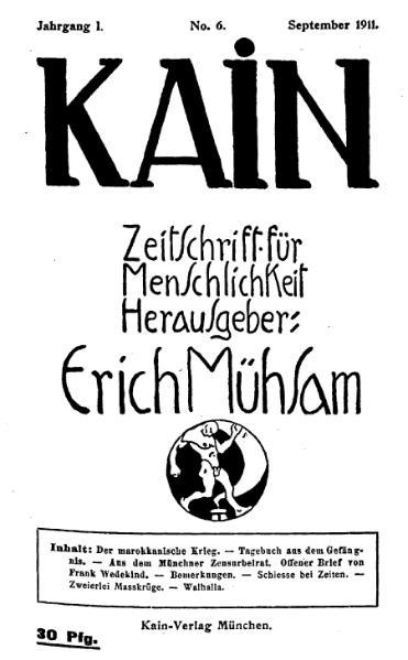 File:Kain – Zeitschrift für Menschlichkeit 1-6.djvu