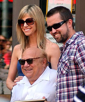 Danny DeVito - DeVito with It's Always Sunny in Philadelphia cast mates Kaitlin Olson and Rob McElhenney at the ceremony for DeVito on August 18, 2011
