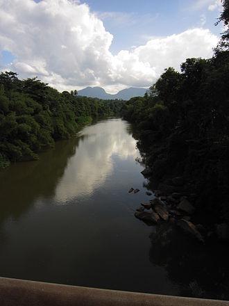 Kalu Ganga - Downstream view, in Ratnapura.