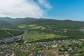 Yelizovo Town in Kamchatka Krai, Russia
