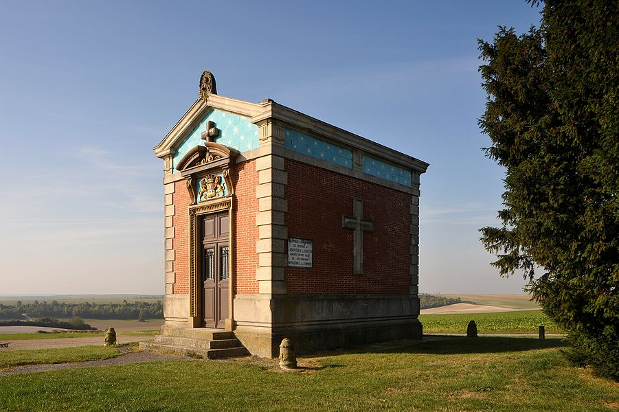 Chapel in which the ashes of Princess Henriette Ginetti great-granddaughter of François-Christophe Kellermann is kept, Valmy; Marne, France.