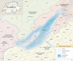 Karte Bielersee 2015