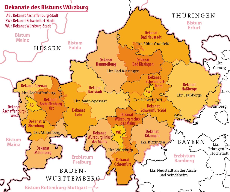 FileKarte Dekanate Des Bistums Würzburgpng Wikimedia Commons - Cellular one coverage map