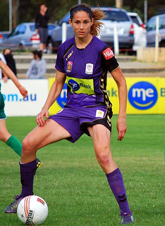 Kate Gill - Gill playing for Perth Glory