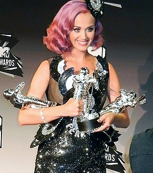 2011 MTV Video Music Awards - Katy Perry with her awards, including Video of the Year