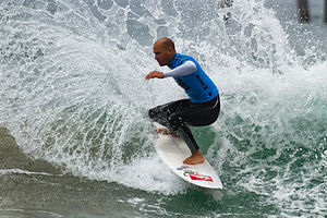 Kelly Slater - Slater competing at the US Open at Huntington Beach (2011).