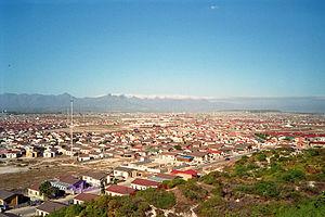 Khayelitsha - View from Khayelitsha Lookout Hill over Ilitha Park