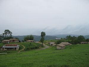 Dima Hasao district - A scenic view of Khobak Village