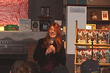 Kim Harrison at Nicola's Books Ann Arbor Michigan.JPG