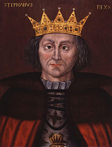 A medieval painting of a man wearing a crown