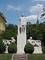 Klebelsberg Monument. Jenő Grantner work, 1939. Kálmán Tóth, conservator, 2001. Limestone. - 25, Villányi út, Szentimreváros, Budapest District XI., Hungary.JPG