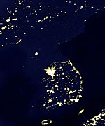 Korean peninsula at night.jpg