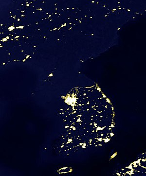 Satellite picture displaying the Korean penins...