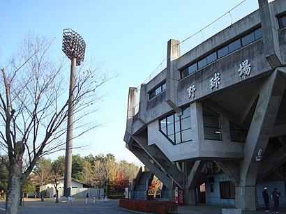 山日YBS球場への交通機関を使った移動方法