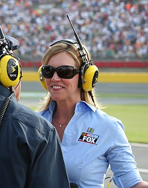 Krista Voda - Krista Voda (with Dick Berggren in foreground) at the 2011 Coca-Cola 600 at Charlotte