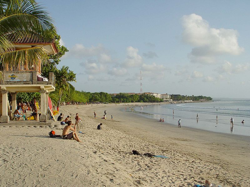 Kuta Beach photo couresy of っ on Wikimedia