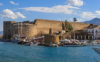 Kyrenia Castle - Kyrenia Castle, view from the Old harbour