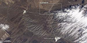 Kyzyl-Agash Dam failure - Image: Kyzylagash ali 2010080 2