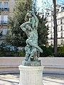 L'Enfance de Bacchus, Jean-Joseph Perraud - statue en bronze au Square du Palais Galliera (Paris).jpg