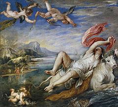 L'Enlèvement d'Europe Rubens