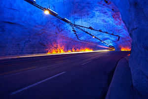 Lærdal Tunnel - Image: Lærdalstunnelen Norway