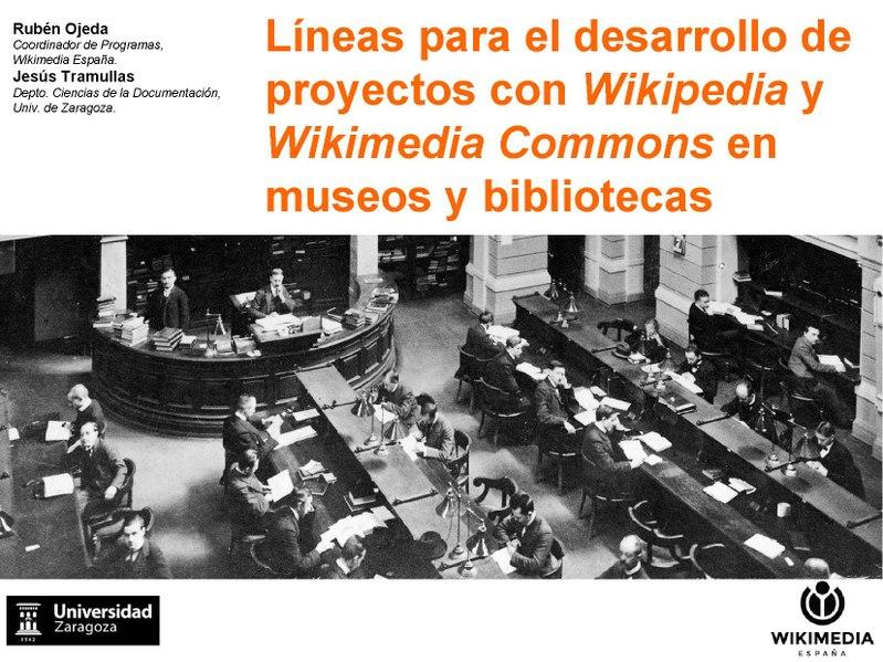 File:Líneas para el desarrollo de proyectos con Wikipedia y Wikimedia Commons en museos y bibliotecas.pdf