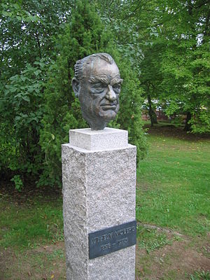 Vilhelm Moberg - Bust near the Swedish Emigrant Institute, Växjö