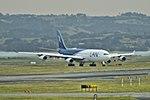 LAN Airbus A340-300 CC-CQF SYD-SCL via AKL arriving AKL (15150456756).jpg