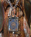 LA Cathedral Lady of Guadalupe Tilma relic.jpg