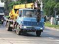 LIAZ crane truck on Zygmunta Kasińskiego, Ziewrzyniecka and Tadeusza Kościuszki intersection in Kraków (2).jpg