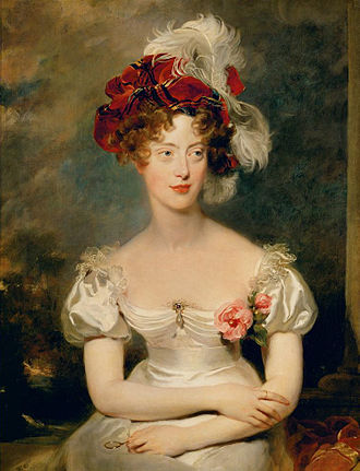 Marie-Caroline of Bourbon-Two Sicilies, Duchess of Berry - Portrait by Sir Thomas Lawrence, 1825