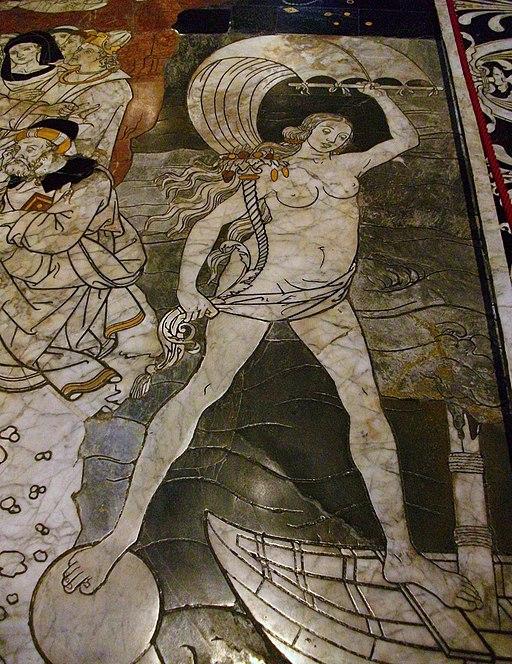 La Fortuna, paviment de la catedral de Siena