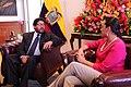 La presidenta de la Asamblea Nacional del Ecuador , Gabriela Rivadeneira, recibe a Marcelo Elio, presidente de la Cámara de Diputados de Bolivia (15946420141).jpg