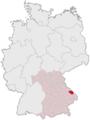 Lage des Landkreises Regen in Deutschland.png