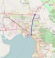 Lagkada street, Thessaloniki, Greece map.png