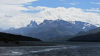 Cholila, Argentina - Lake Cholila and Cerro dos Picos.