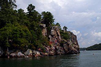 Lake Martin - Acapulco Rock and Chimney Rock at the lake