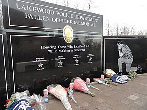 2009 Lakewood shooting - The Lakewood Police Department Fallen Officer Memorial, which honors the shooting victims.