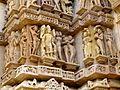 Lakshmana Temple Western Group of Temples Khajuraho India - panoramio (12).jpg