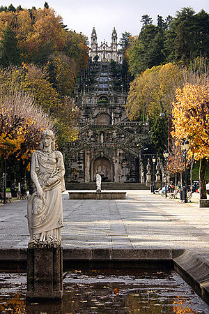 Lamego - Sanctuary of Our Lady of Remédios, built in 1750.