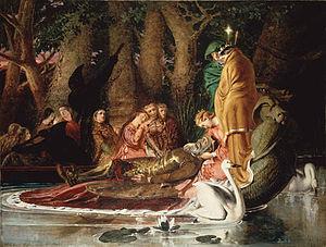 English: The Lamentation of King Arthur