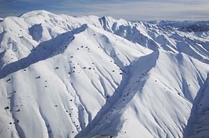 Geography of Afghanistan - Snow-covered mountains in the Paktia Province.